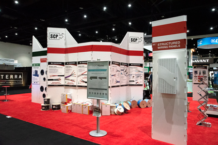 CEDIA 2017 Tradeshow San Diego SCP Structured Cable Products CAT5 CAT6 HDMI Dania Beach Florida