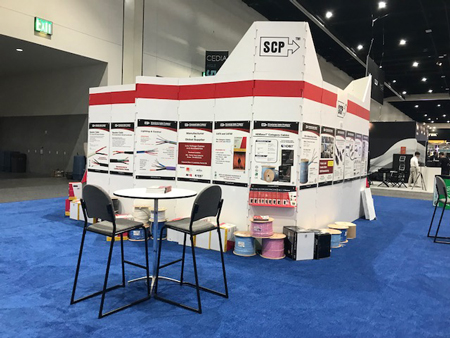 Cedia 2018 Tradeshow San Diego SCP Structured Cable Products CAT5 CAT6 HDMI Dania Beach Florida