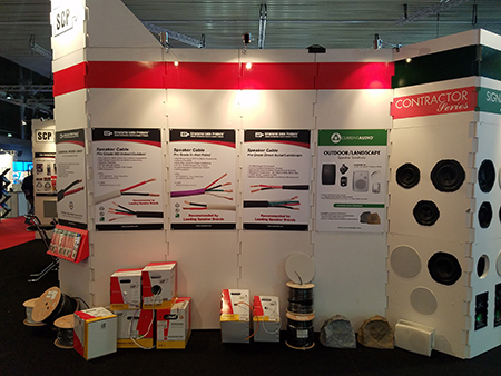 ISE 2018 Tradeshow Amsterdam SCP Structured Cable Products CAT5 CAT6 HDMI Dania Beach Florida
