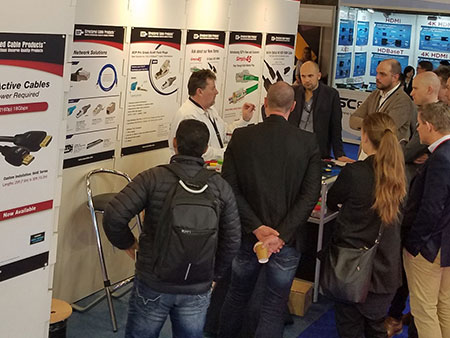 ISE 2019 Tradeshow Amsterdam SCP Structured Cable Products CAT5 CAT6 HDMI Dania Beach Florida