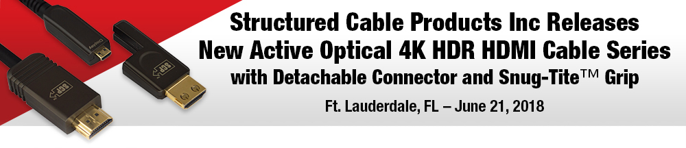 Press Release Active Optical 4K HDR HDMI Cable (Series: 995AOC) Structured Cable Products