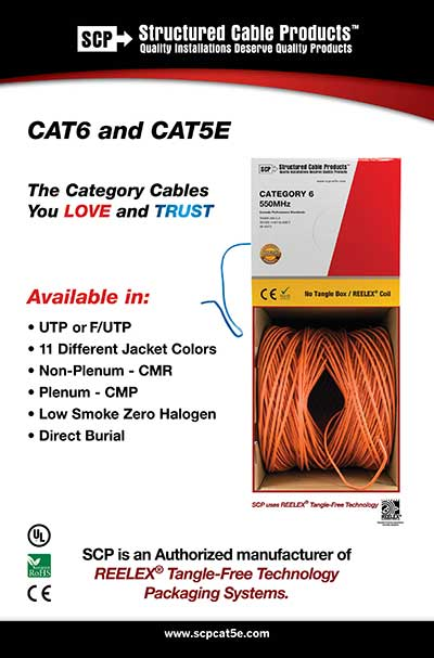 SCP Structured Cable Products HDMI CAT5 CAT6 CAT7 Alarm Security Loudspeaker Ligthning Control Coaxial Optical HDMI Cable Accessories
