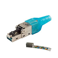 Connectors Adapters 10G Plugs 10G RJ45 FIELD PLUG FULL SHIELD TOOLESS SCP Structured Cable Products