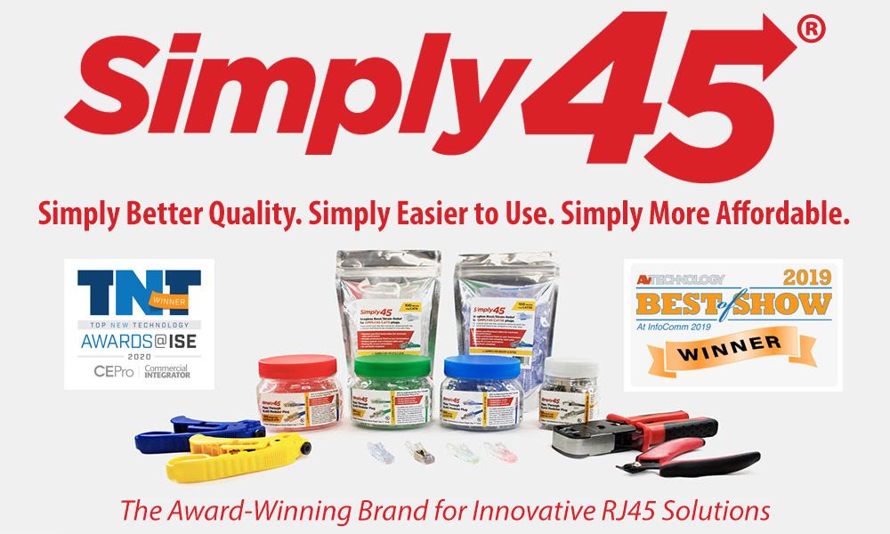 SIMPLY45 Pass Through RJ45 Modular Plug Termination System SCP